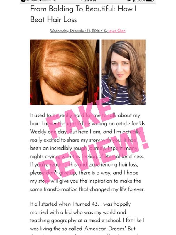 follinique hair growth treatment scam