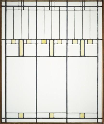 modern panel prairie school window