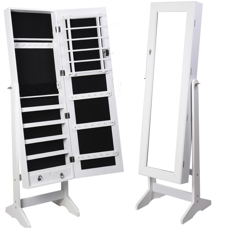 full length mirror with jewelry storage