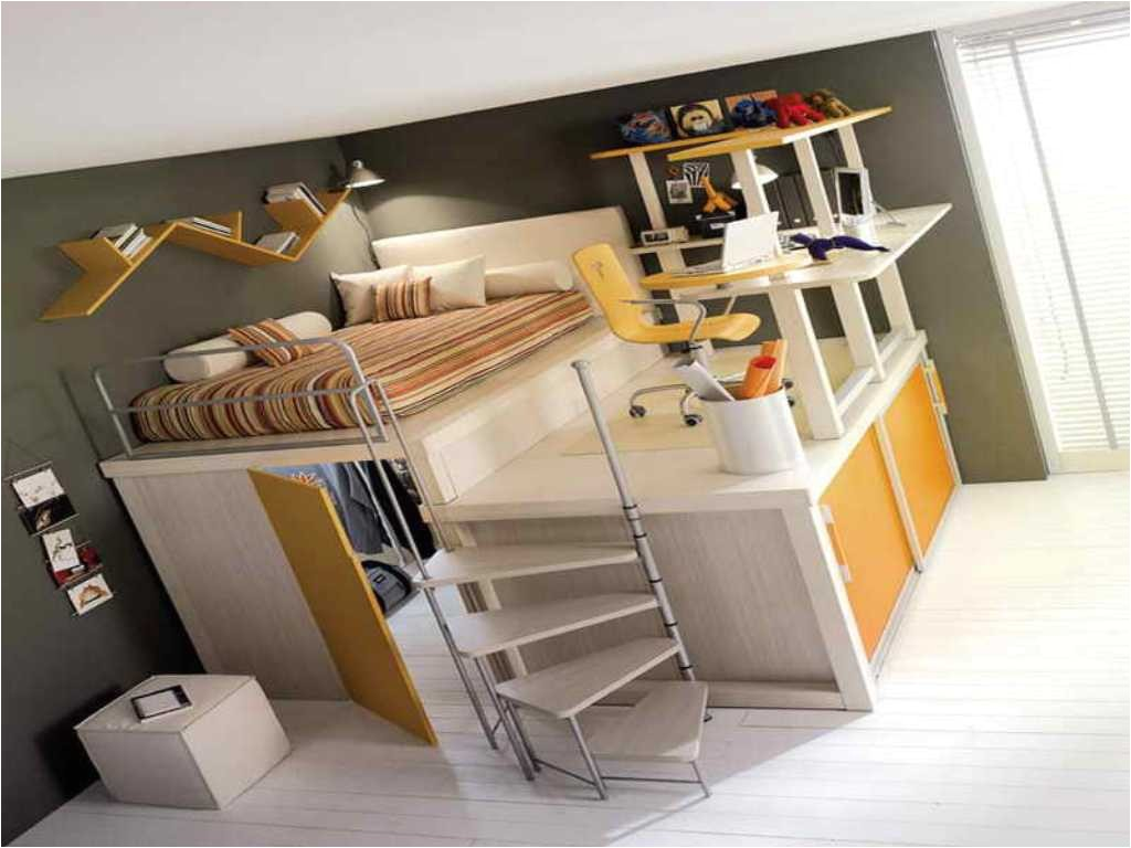 loft bed with desk underneath for college students