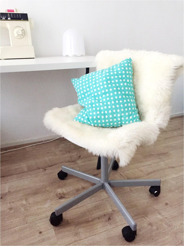 ikea hack fluffy desk chair