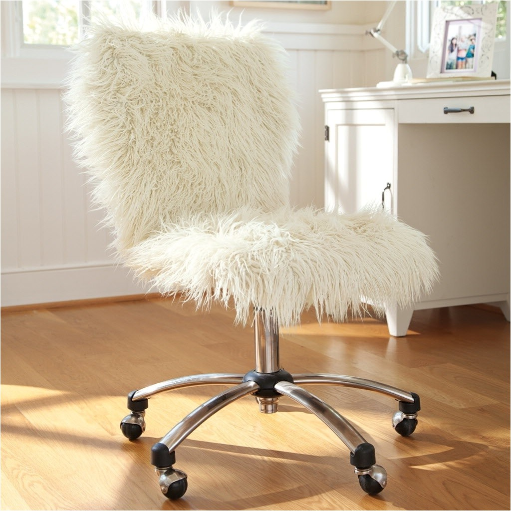 Furry Desk Chair with Arms Faux Fur Desk Chair Uk Archives Officeendtable Design