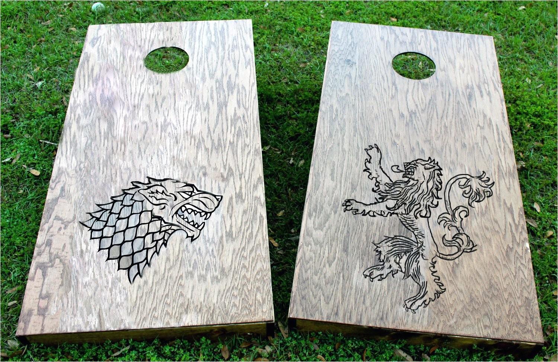 Game Of Thrones Cornhole Game Of Thrones Custom Cornhole Game Lannister and Stark