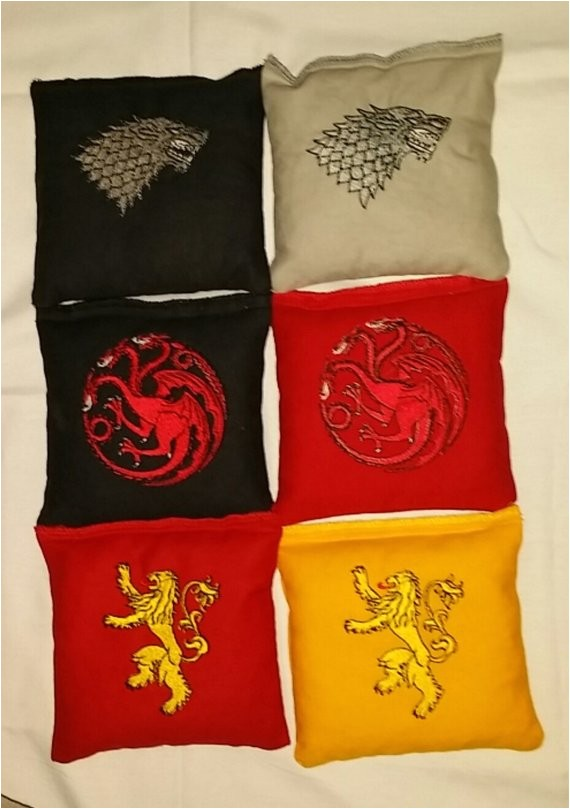 game of thrones embroidered cornhole