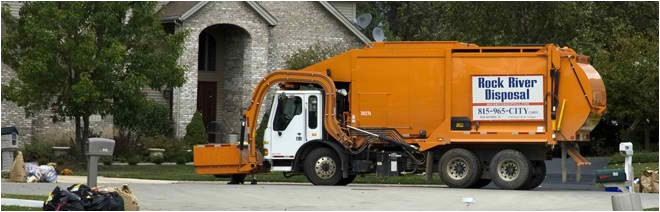 truck vehicle rock river disposal services