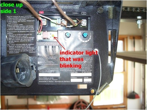 genie garage door opener red light blinking r16781