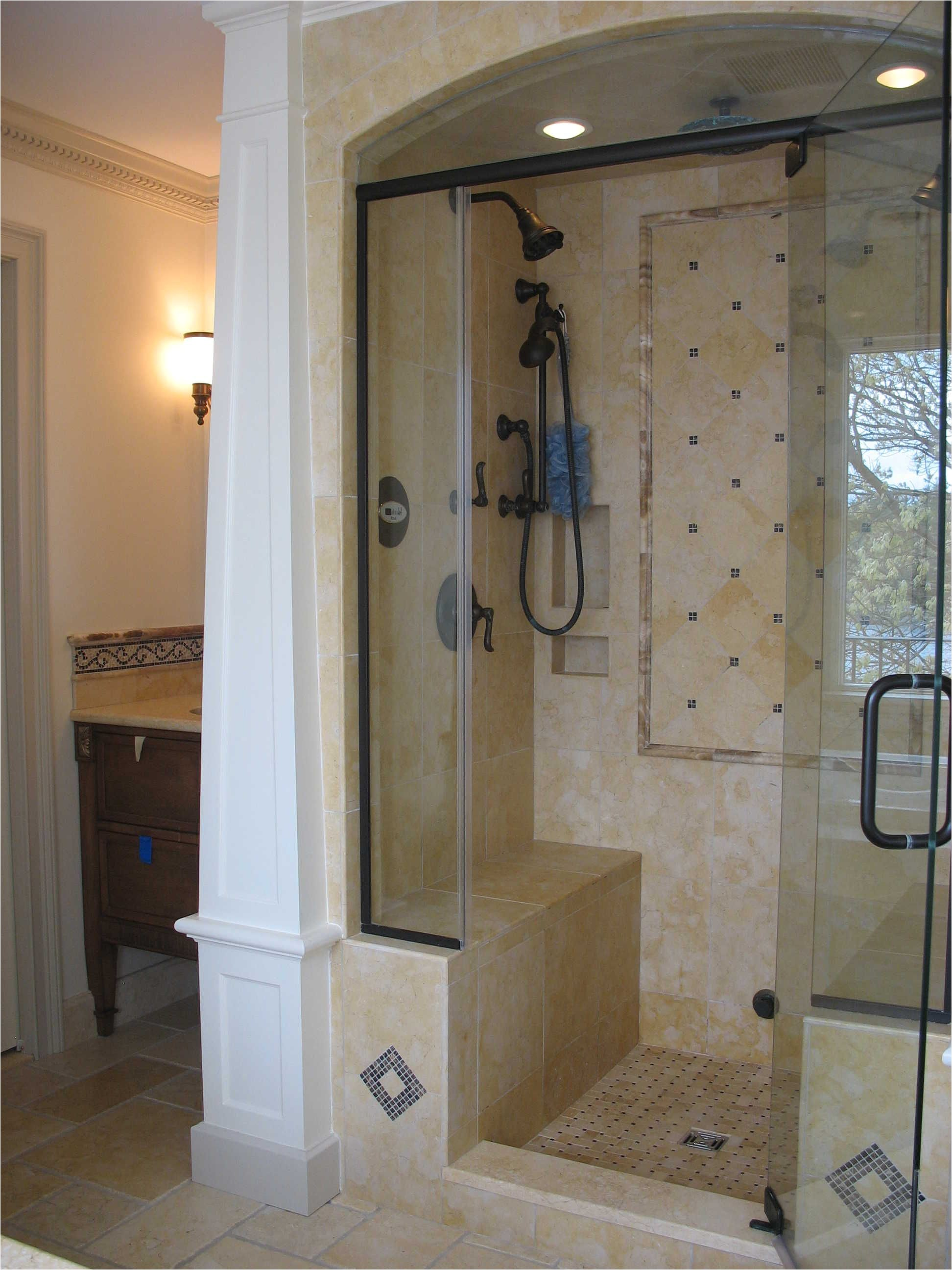 walk in shower doors swing door single handle entry stand up shower and bronze head shower