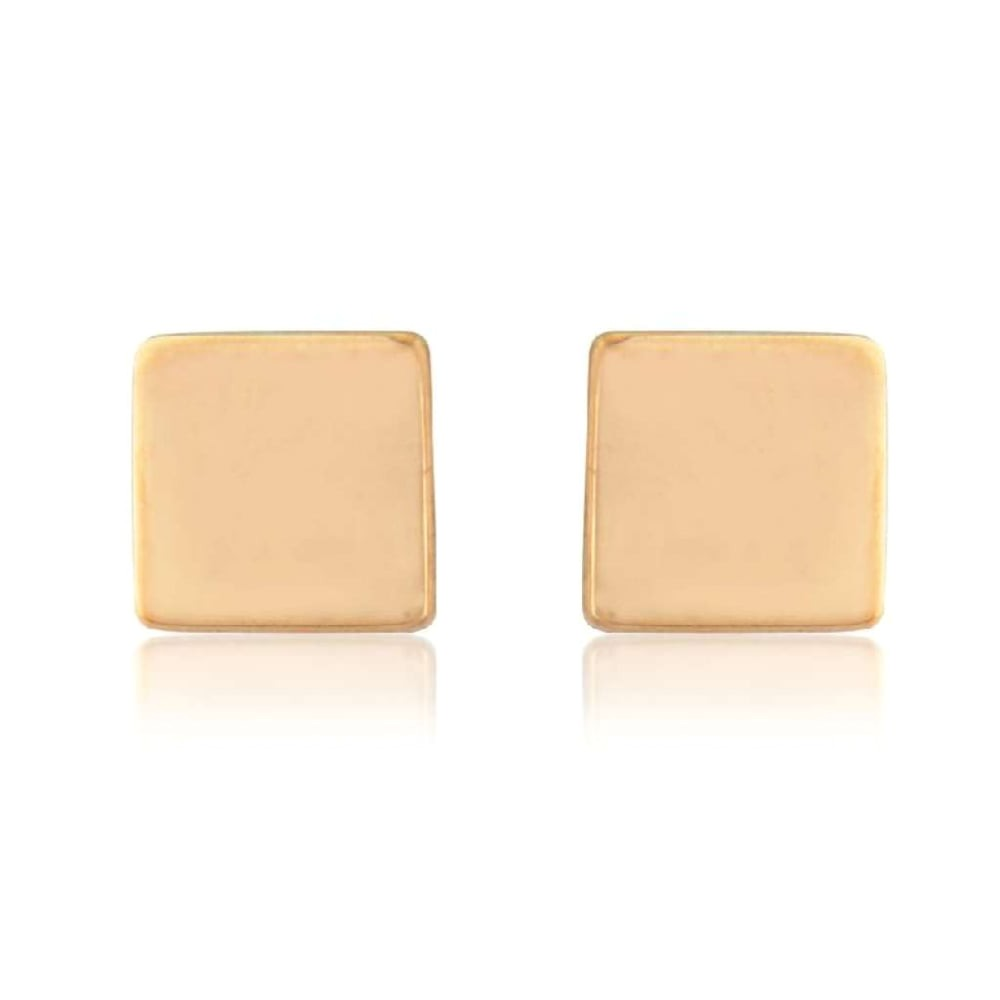 9ct rose gold cube stud earrings p4416