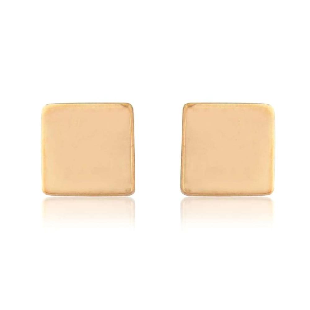 9ct rose gold cube stud earrings p4416