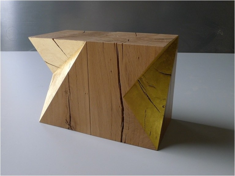 Gold Cube for Sale Cheap Gold Cube Stools or Side Tables by Damien Hamon for