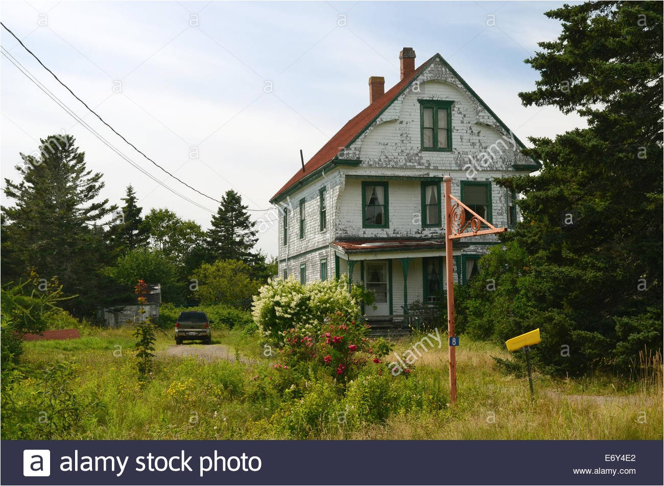 old house grand manan island new brunswick canada stock image