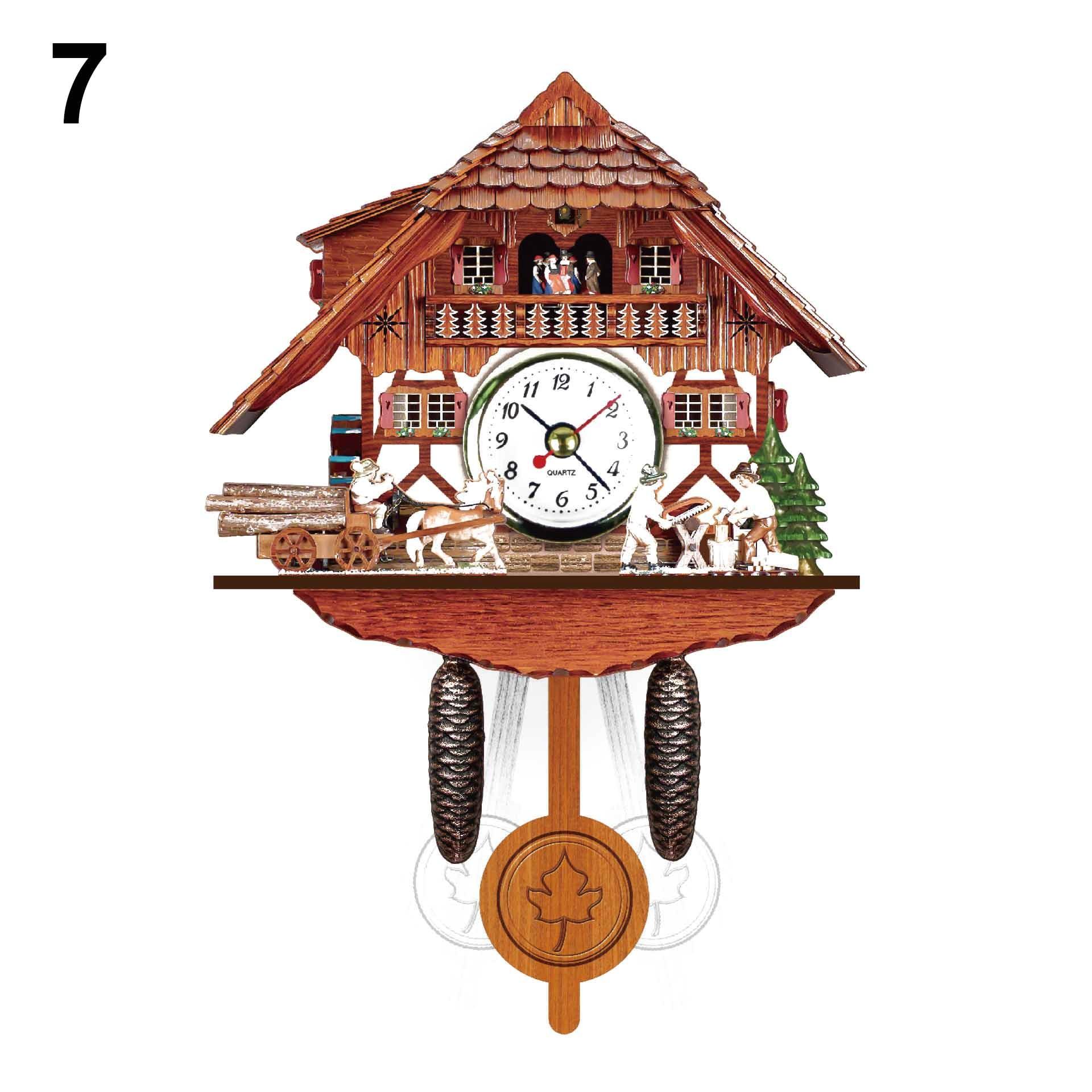 hot new wall clock antique wooden cuckoo bird time bell swing alarm watch home art decor xh8z jy20 in wall clocks from home garden on aliexpress com