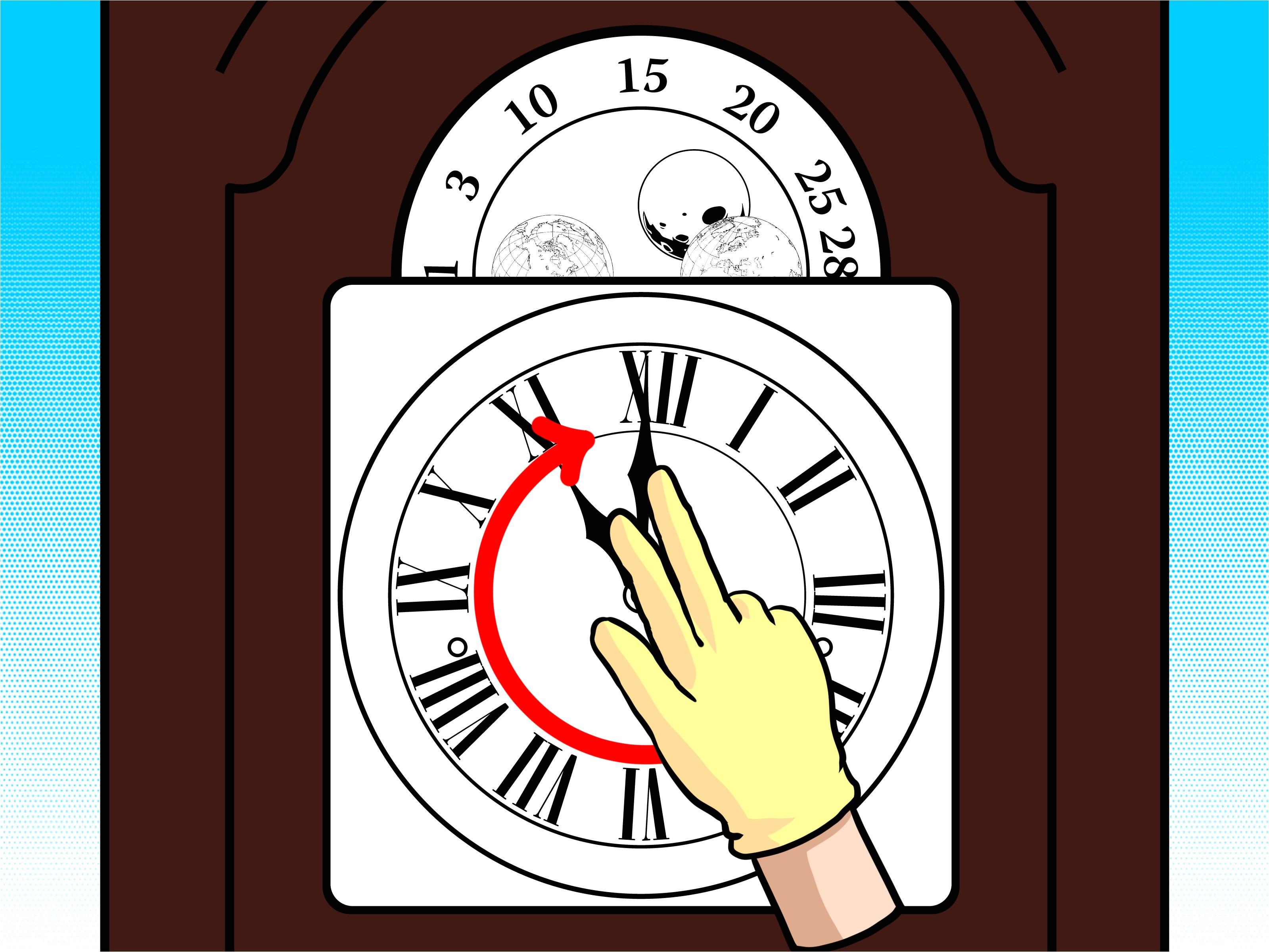 wind a grandfather clock step 15 jpg