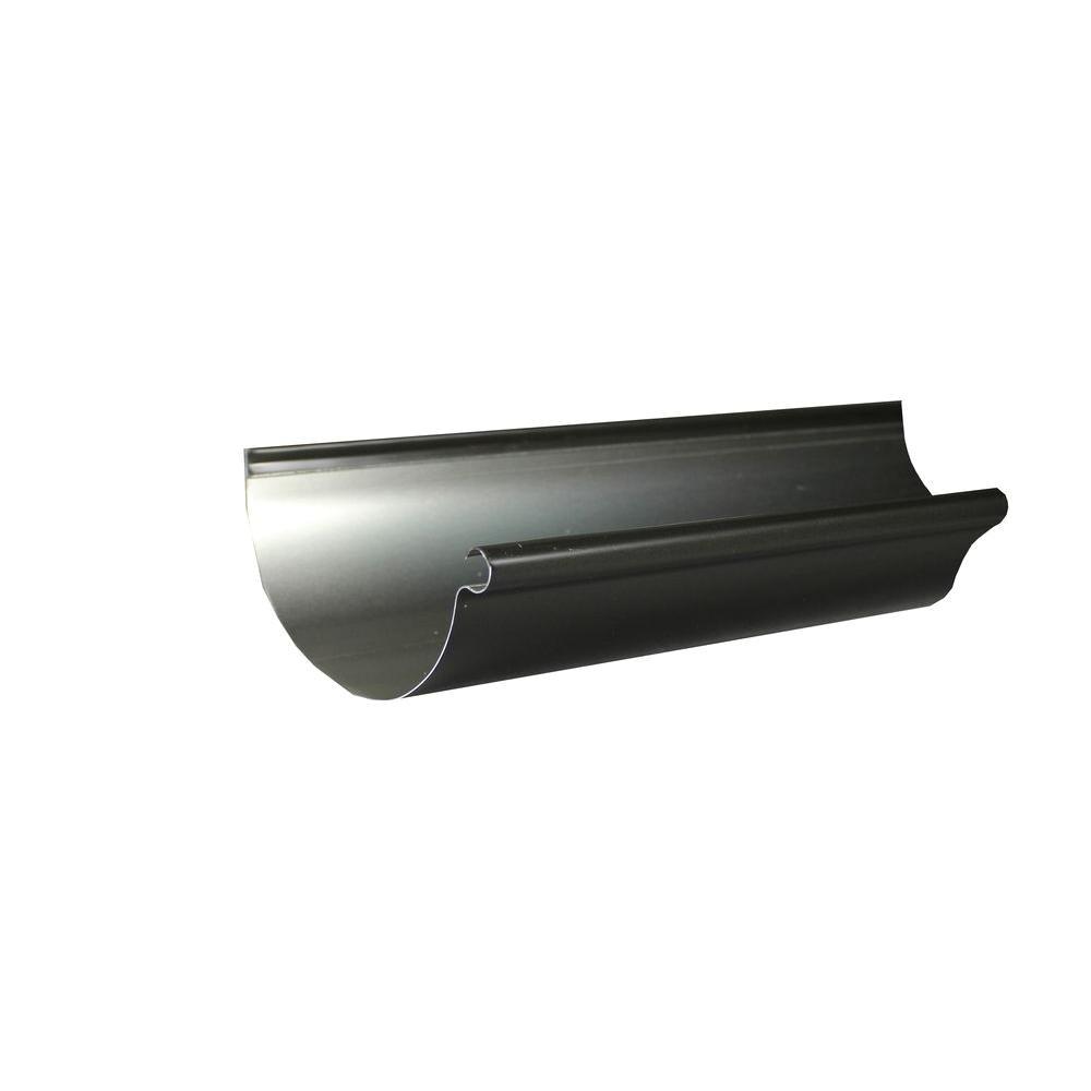 half round bronze aluminum gutter