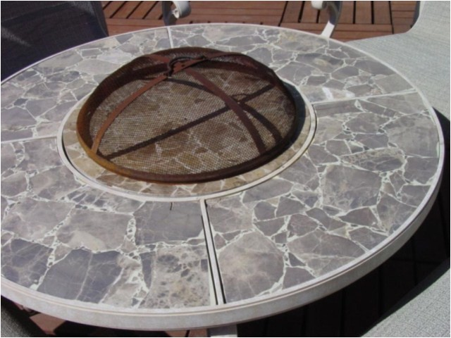 Hampton Bay Simone Fire Pit Replacement Parts Lot 145 Hampton Bay Fire Pit 4 Rocking Patio Chairs