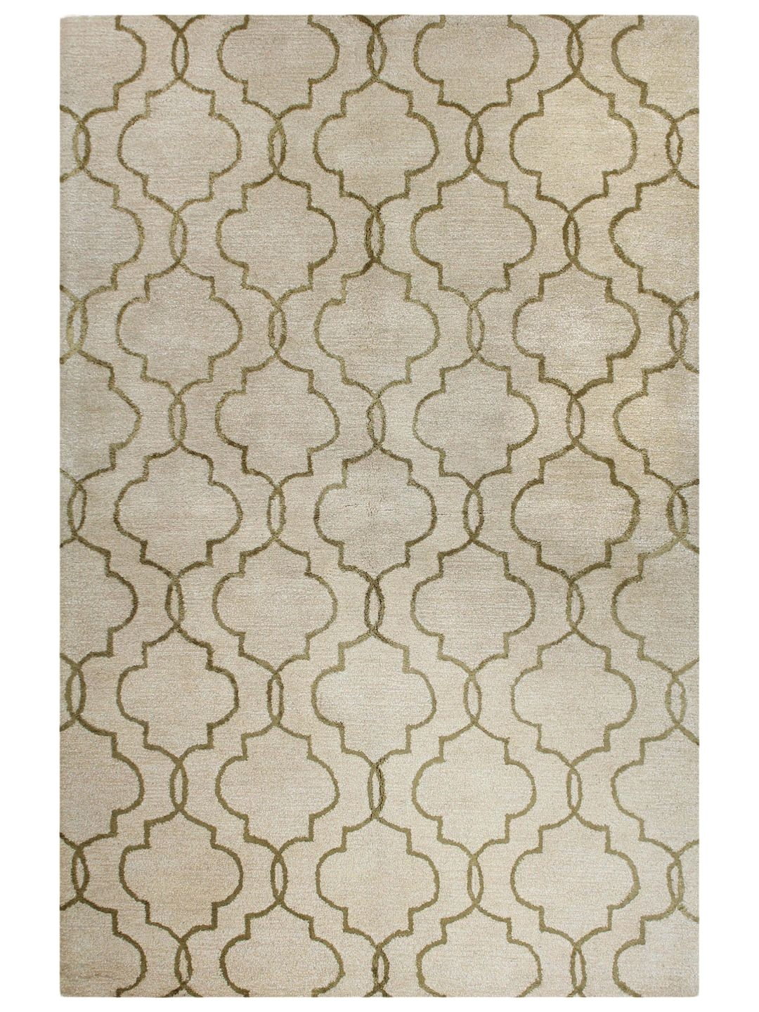 motif hand knotted wool and viscose rug gilt home