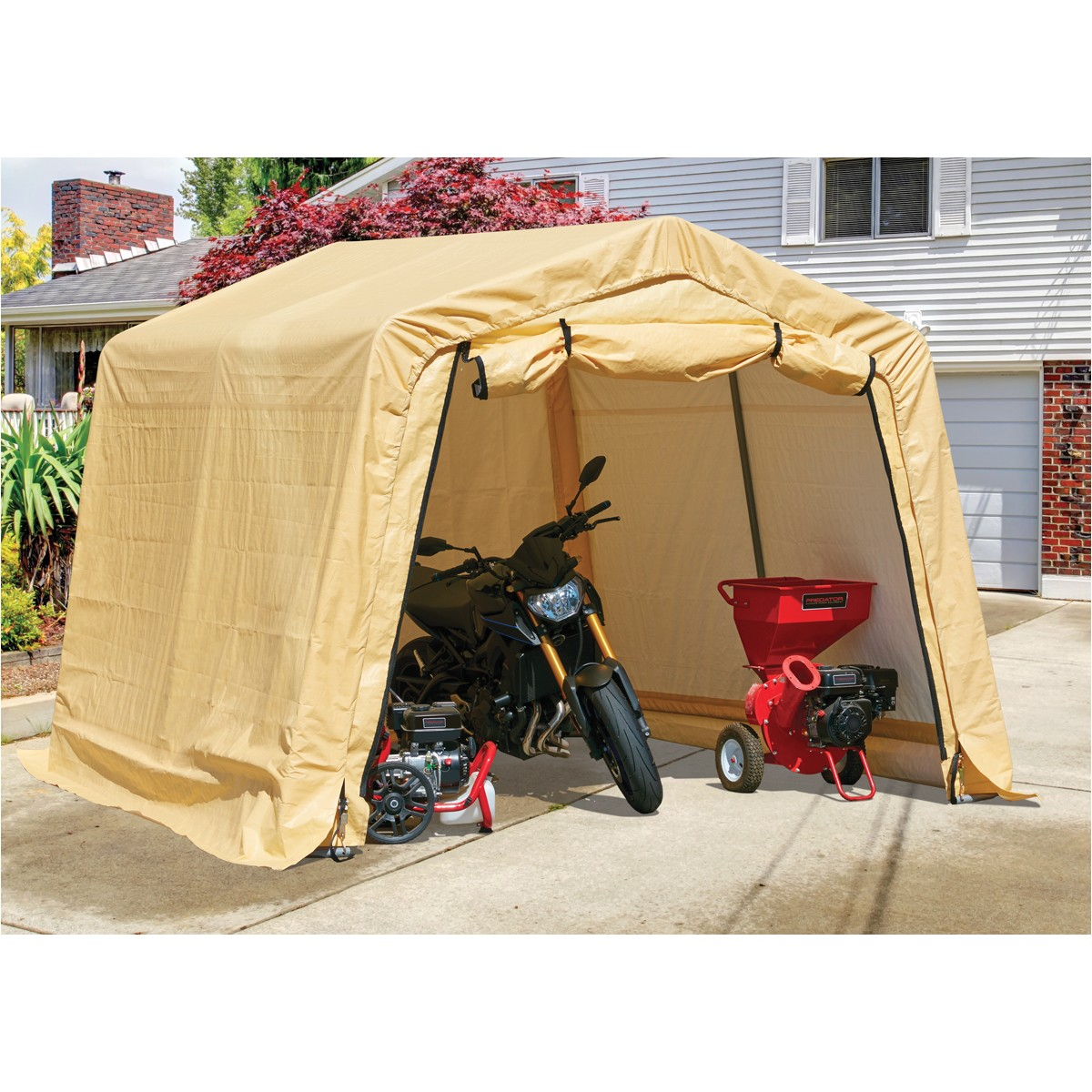 Harbor Freight Portable Garage Replacement Cover 10 Ft X 10 Ft Portable Shed