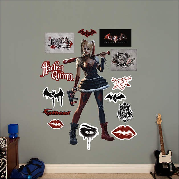 harley quinn arkham knight wall decal