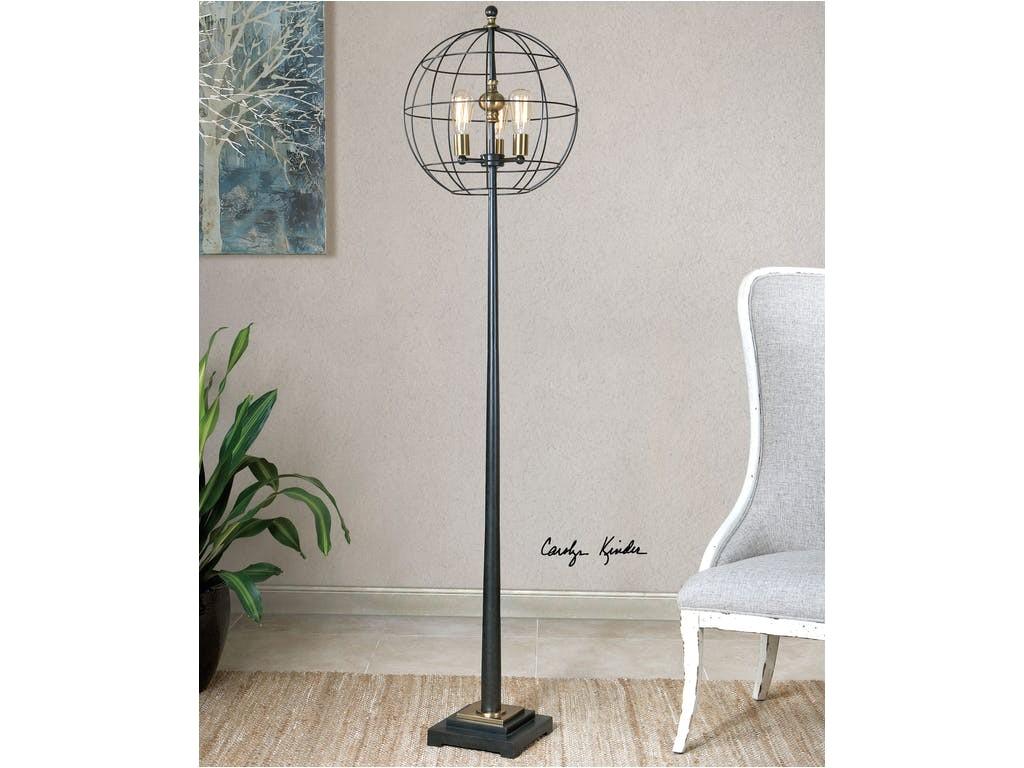 uttermost palla round cage floor lamp 28628 1