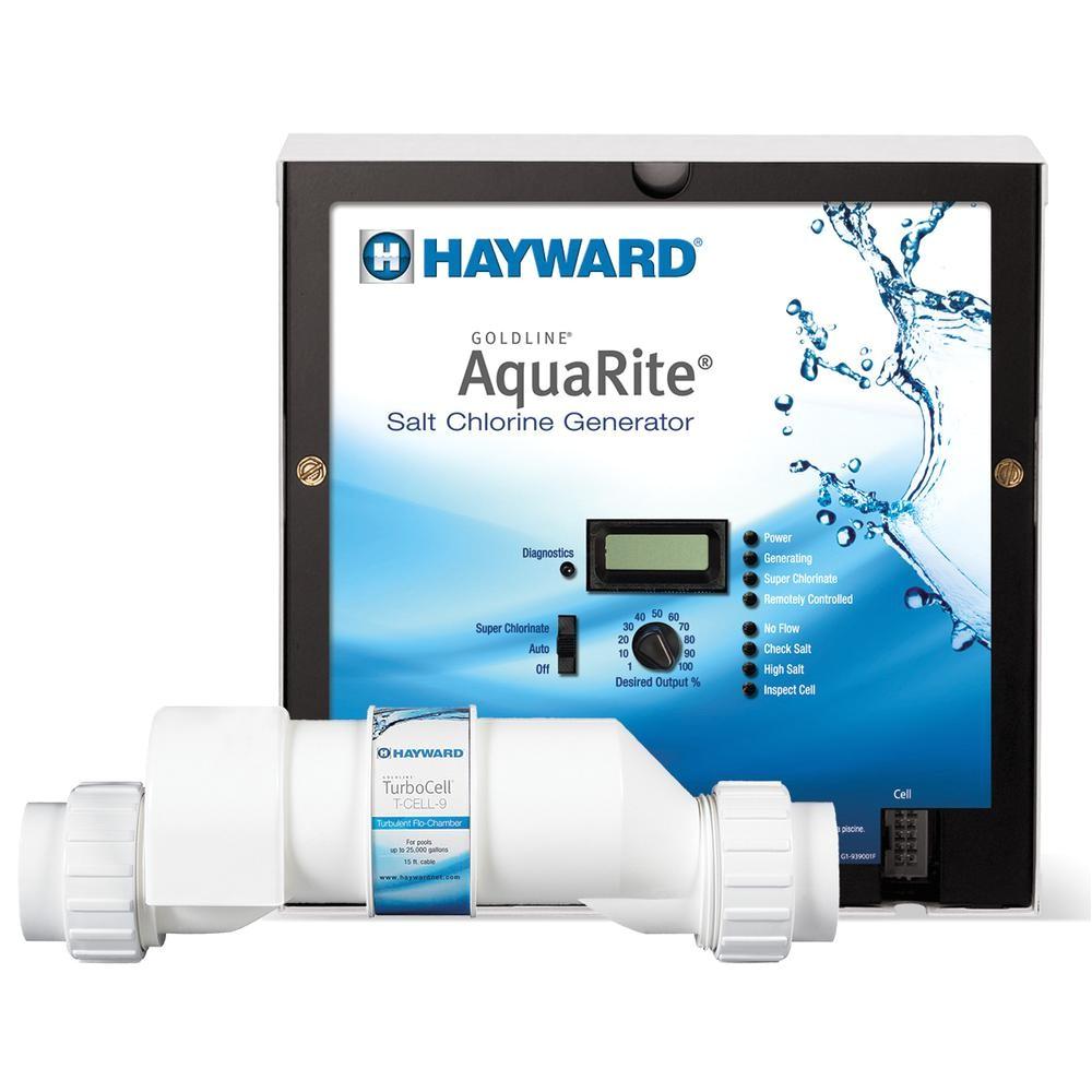 hayward aquarite 25 000 gal in ground salt water chlorinator