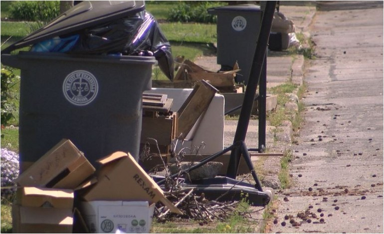 evansville water sewer utility announces heavy trash pick