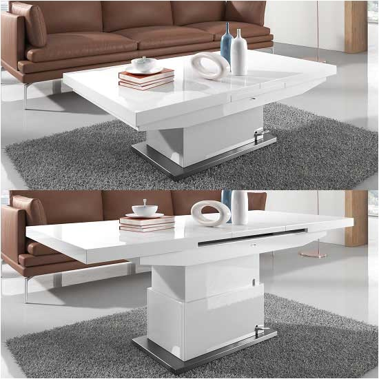 making a small room efficient with height adjustable coffee table