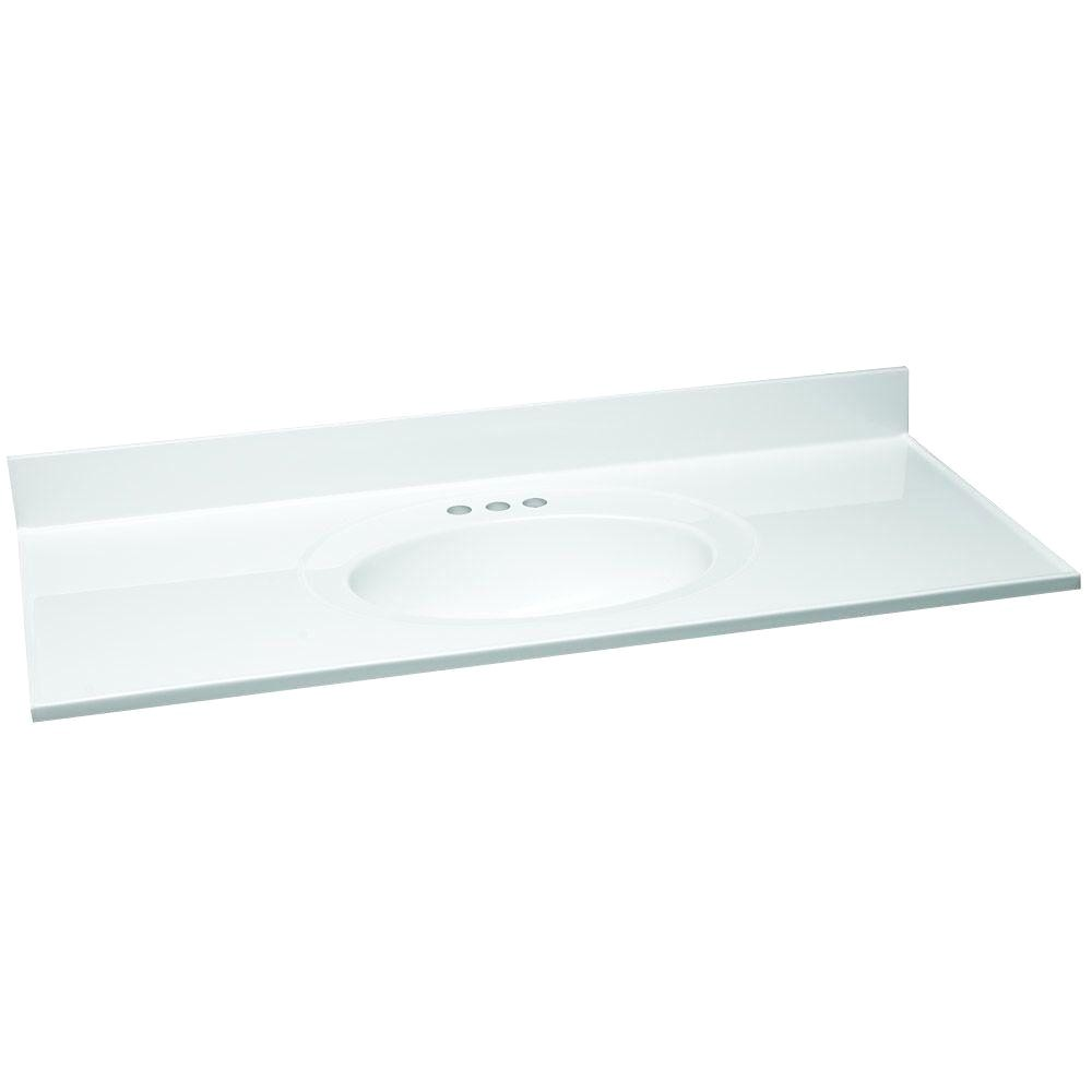 w cultured marble vanity top in white with solid white bowl