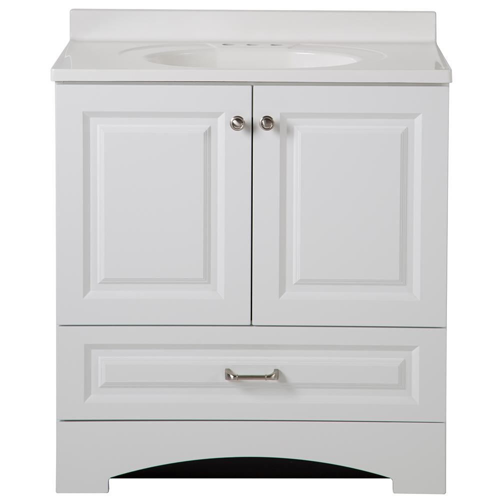 glacier bay lancaster 30 in w x 19 in d bath vanity and vanity
