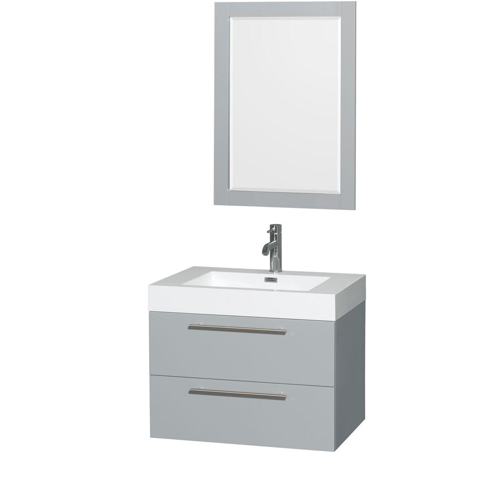 wyndham collection amare 29 in w x 20 in d vanity in dove gray