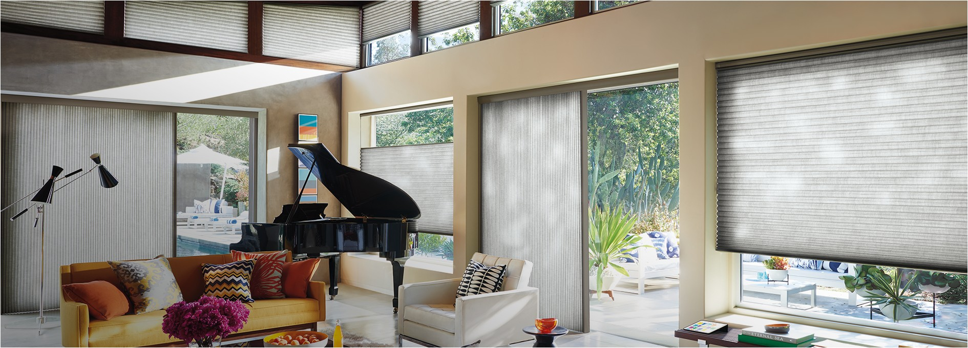 Honeycomb Shades with Vertiglide Hunter Douglas Vertiglide Operating System today S Window