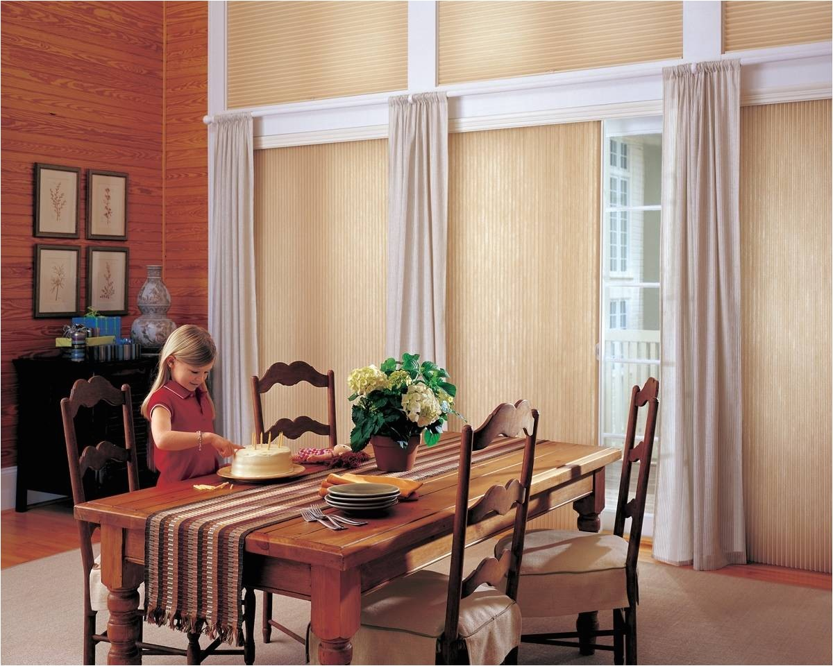 vertiglide honeycomb shades