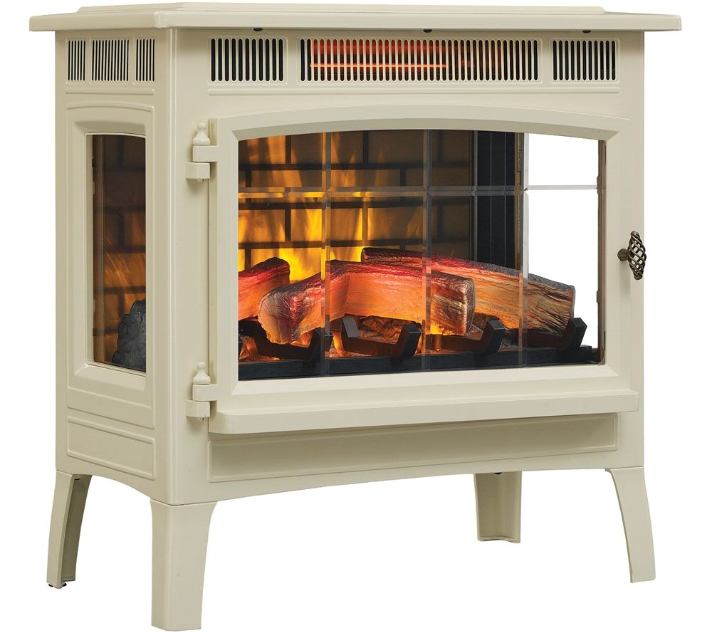 duraflame infrared quartz stove heater with 3d flame effect remote page 1 qvc com