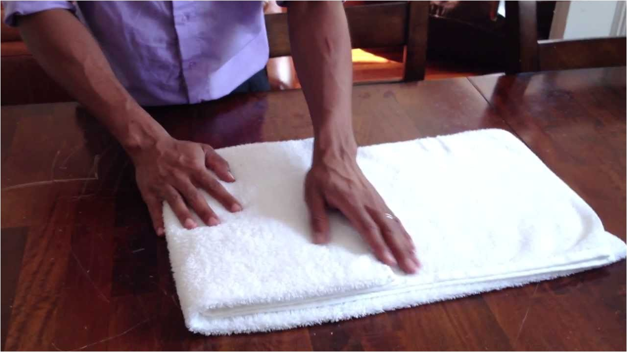 How to Fold towels Like A Hotel Fancy How to Fold A towel Like they Do at Hotels Youtube
