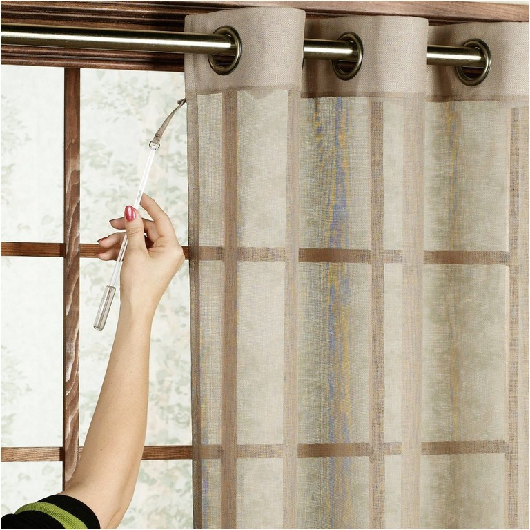 how to hang door curtains without drilling