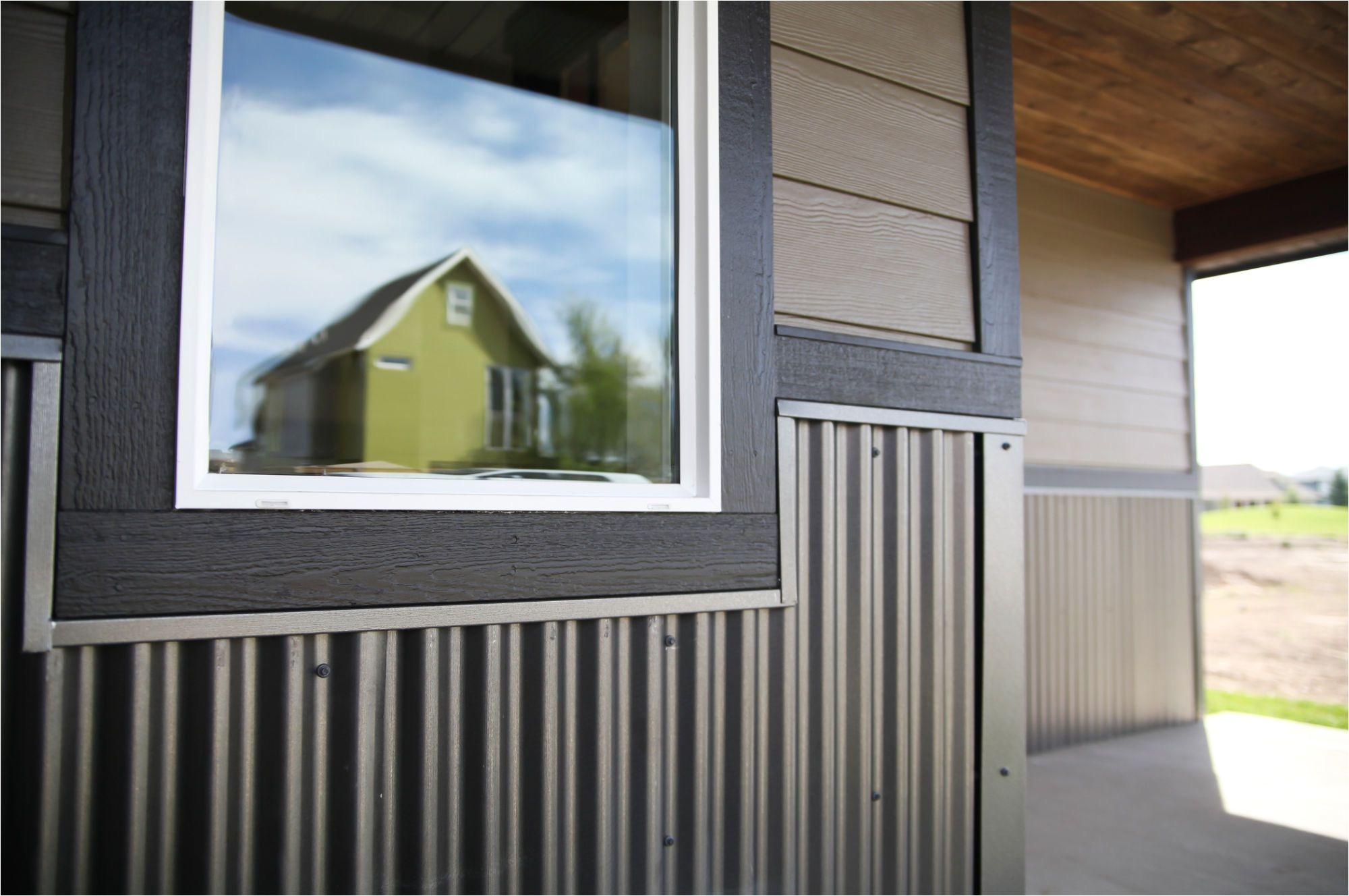 metal wainscoting white windows and greyish siding please tell me this combo will work for our house