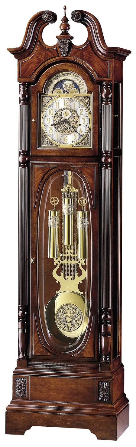 triple chime traditional cherry grandfather clock howardmiller 610948