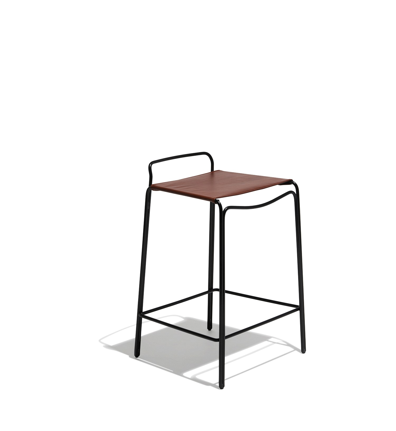 trace counter stool leather