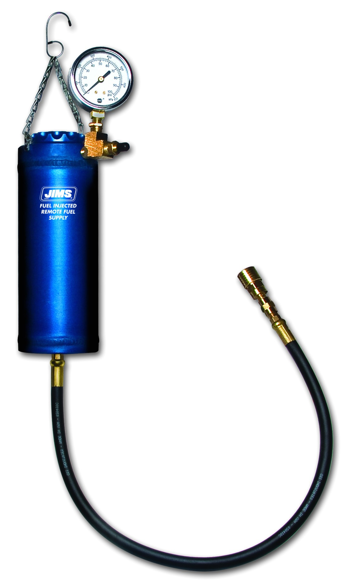 remote fuel supply for fuel injected motorcycles