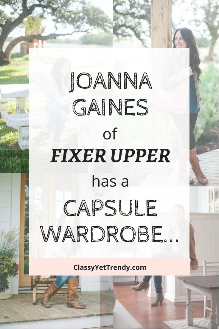 Joanna Gaines Capsule Wardrobe Magnolia Joanna Gaines Of Fixer Upper Has A Capsule Wardrobe