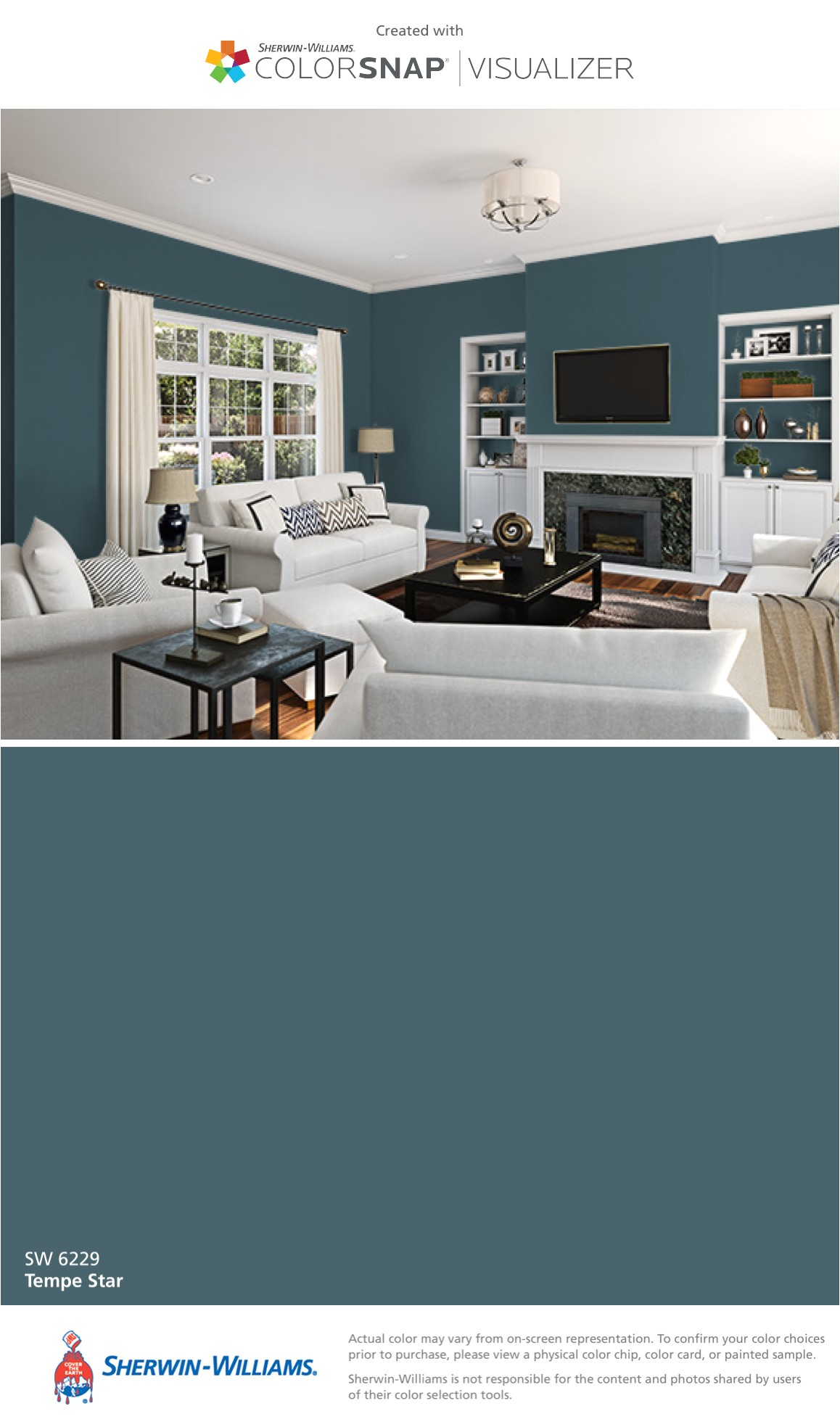 i found this color with colorsnapa visualizer for iphone by sherwin williams tempe star sw 6229