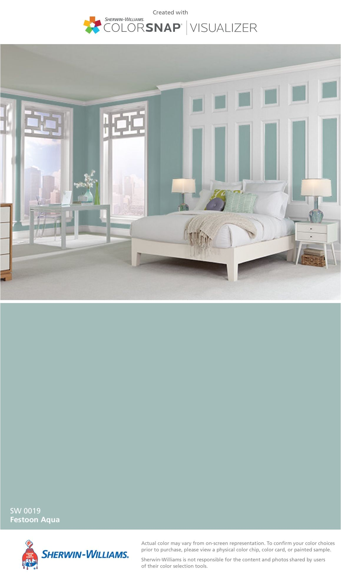 i found this color with colorsnapa visualizer for iphone by sherwin williams festoon aqua sw 0019