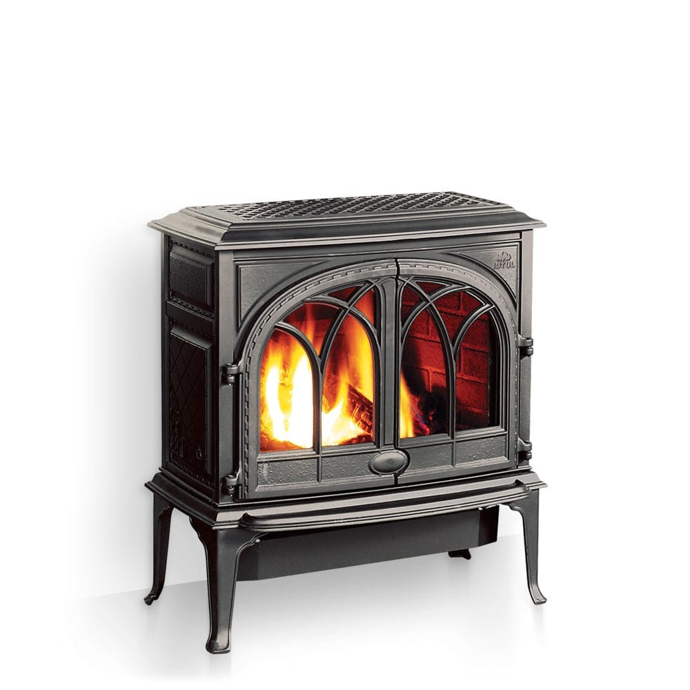 gas heating stove traditional cast iron double door f 400