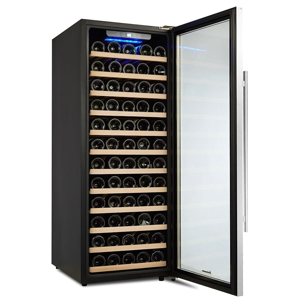 kalamera 80 bottle single zone freestanding wine cooler kmer1009
