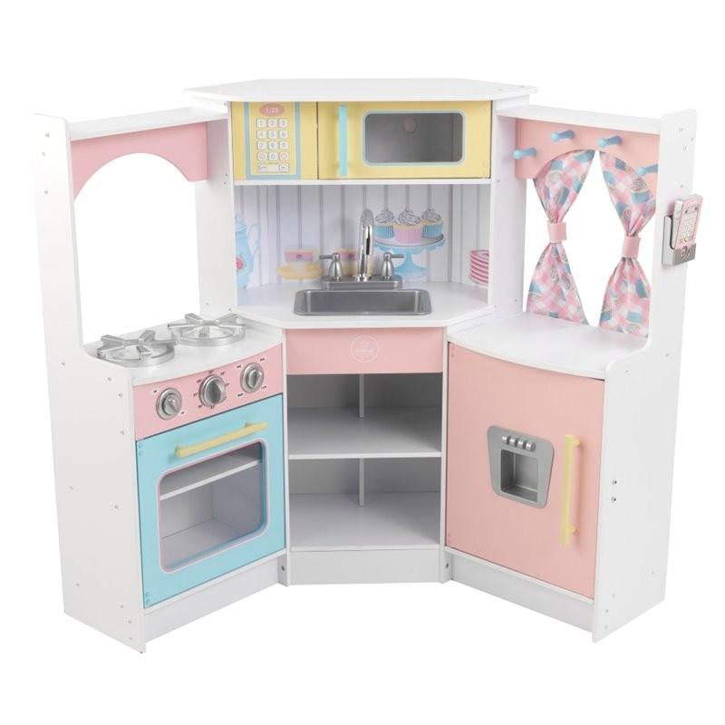 kidkraft deluxe corner play kitchen 53368