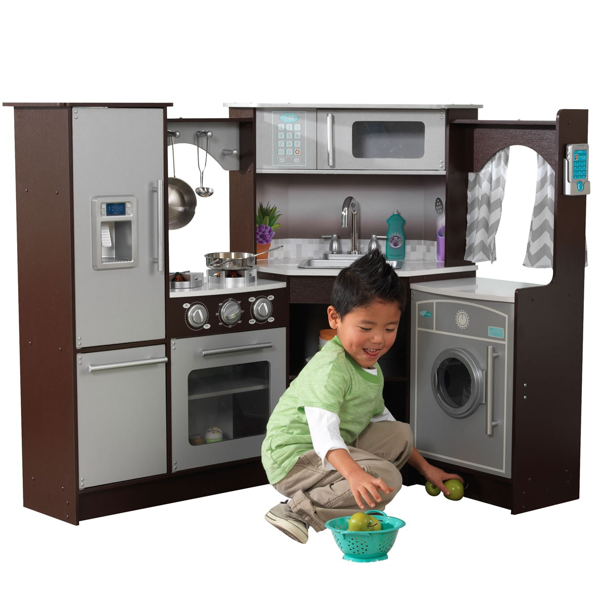 kidkraft ulitmate corner play kitchen w lights sounds