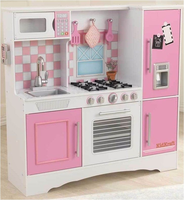 Kidkraft Large Pastel Kitchen Replacement Parts Culinary Wooden Play Pink Kids