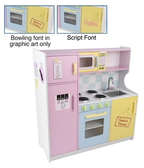 Kidkraft Large Pastel Kitchen Replacement Parts Personalized Deluxe Play