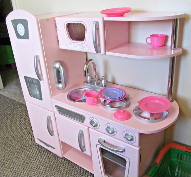 kidkraft kitchen pink vintage