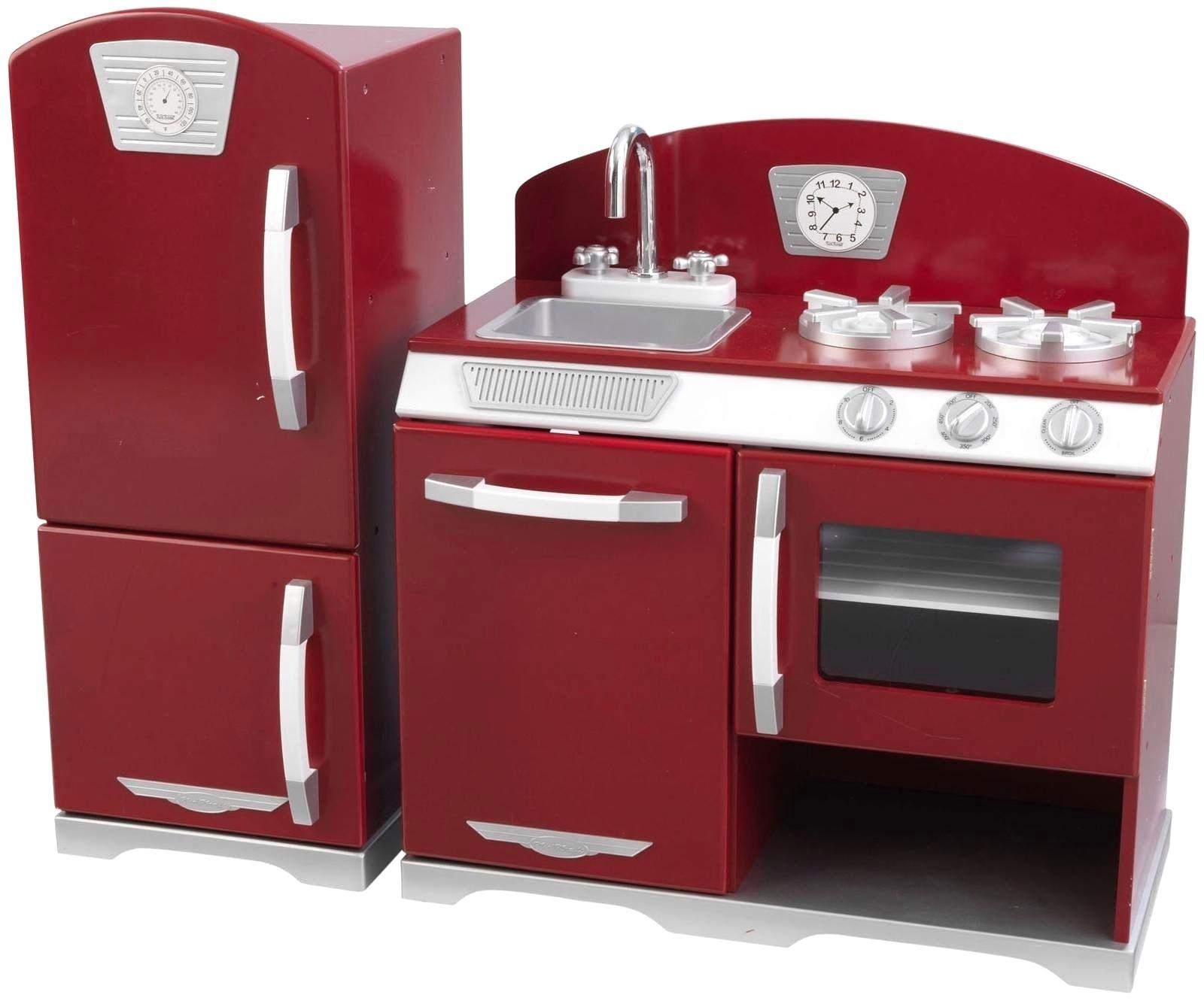 Kidkraft Red Retro Kitchen Replacement Parts Pleasant Vintage Kitchen Set White Ks Raft Red Retro