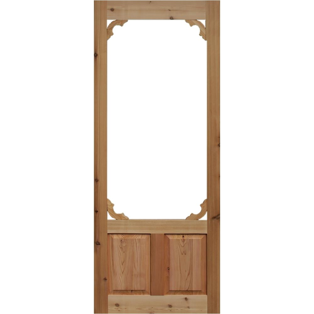 Kimberly Bay Screen Doors Kimberly Bay 36 In X 80 In Woodland Cedar Screen Door